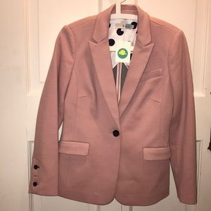 Light pink ponte blazer